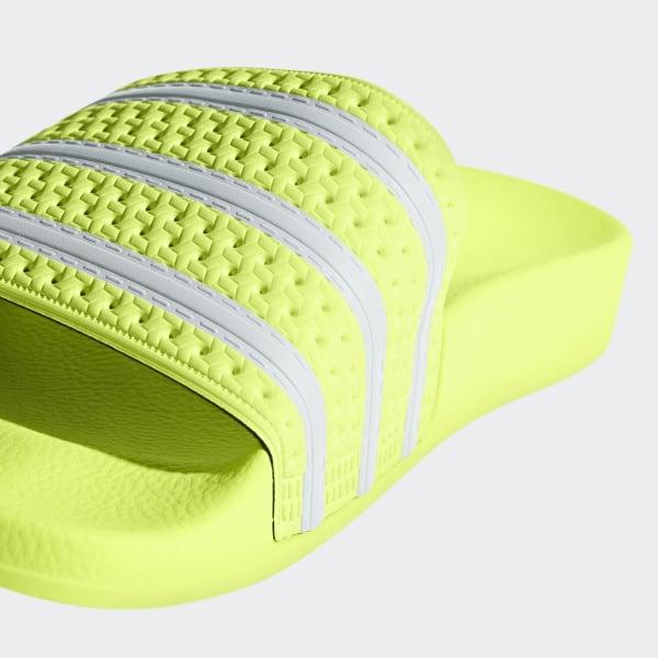 dcf7be3d6de Adilette Slides Semi Frozen Yellow / Ftwr White / Semi Frozen Yellow B37672