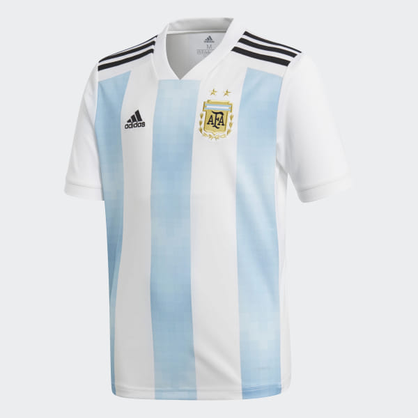 bb4440ebd Camiseta Oficial Selección de Argentina Local Niño 2018 WHITE CLEAR  BLUE BLACK BQ9288