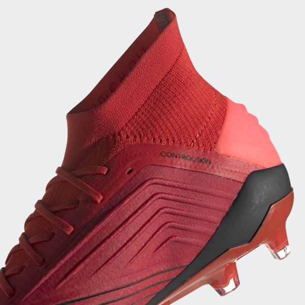 7f59c88c2 Predator 19.1 Firm Ground Cleats Active Red   Solar Red   Core Black BC0552