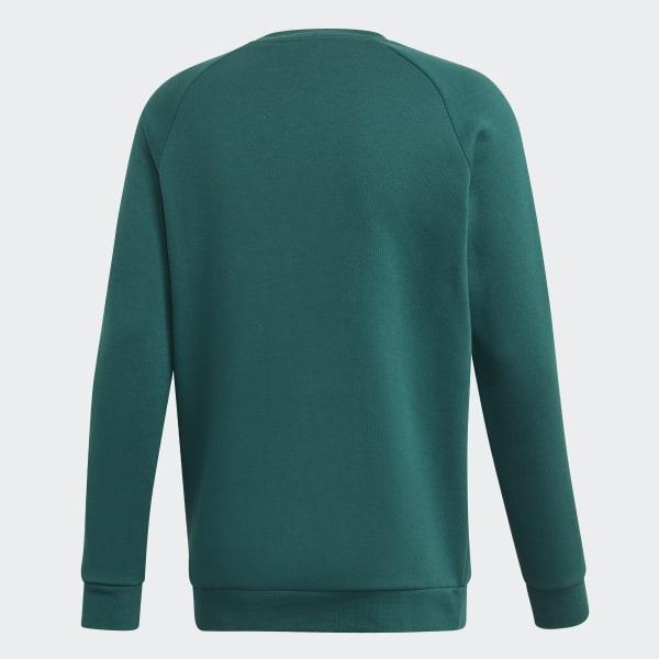 Sudadera cuello redondo 3 bandas Verde adidas | adidas España