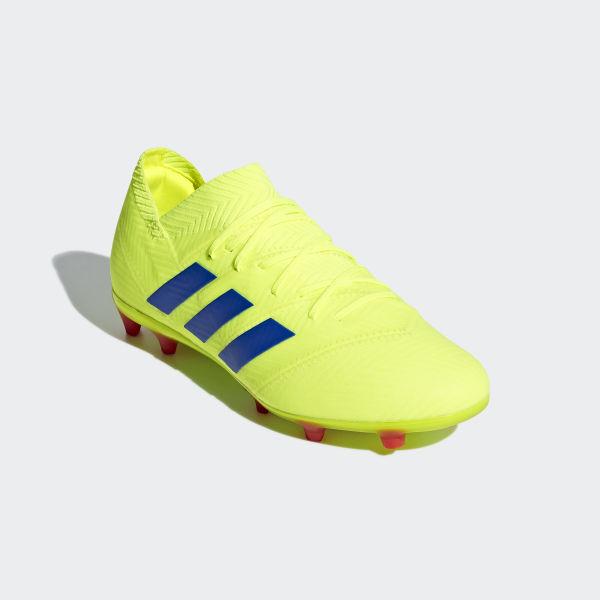 4c5db6fe7203 Nemeziz 18.1 Firm Ground Cleats Solar Yellow / Football Blue / Active Red  CM8502