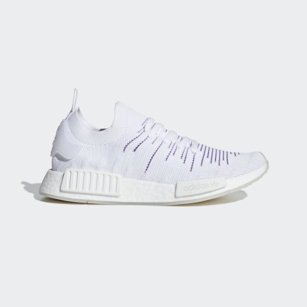 best website b74cf a2cf2 NMD R1 STLT Primeknit Shoes Cloud White   Cloud White   Active Purple BD8017