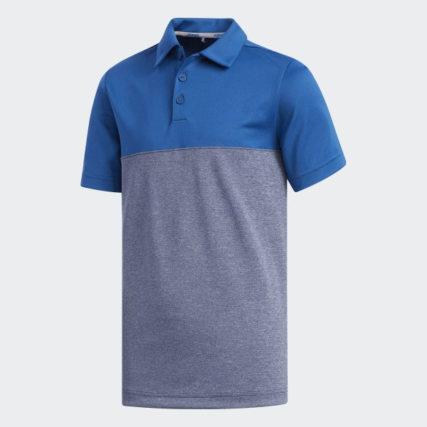 94664841 adidas Heather Colorblock Polo Shirt - Blue | adidas US