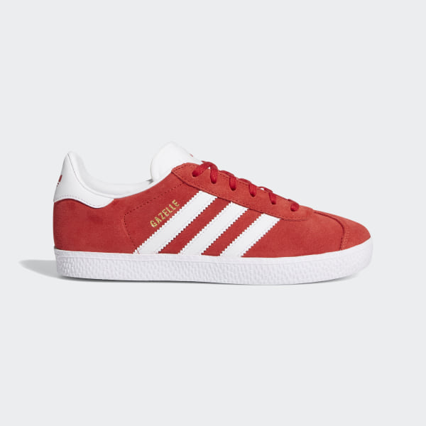Gazelle Schuh ScarletFootwear WhiteGold Metallic Originals
