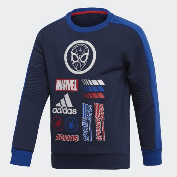 Sweat shirt Marvel Spider Man Crew Bleu adidas | adidas France
