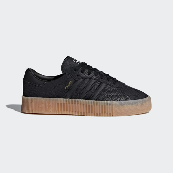Adidas Black Sambarose Leather Sneakers |