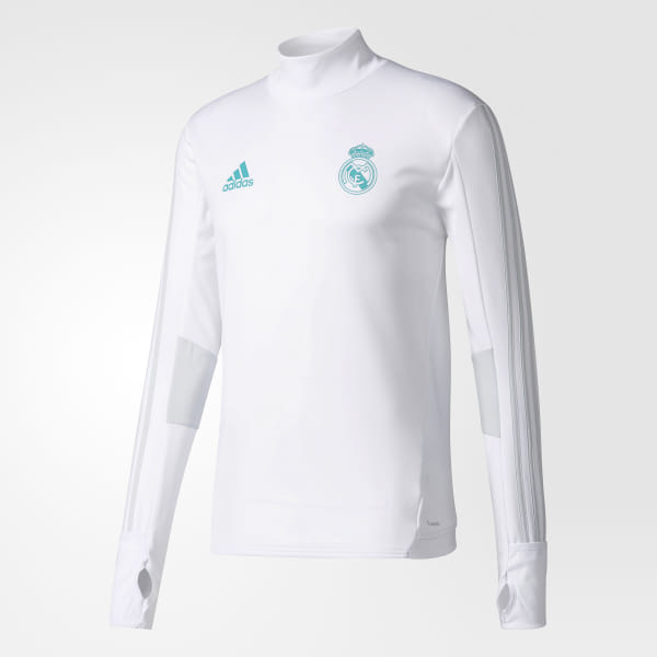 67e201b90 Real Madrid Training Top White   Clear Grey BQ7947