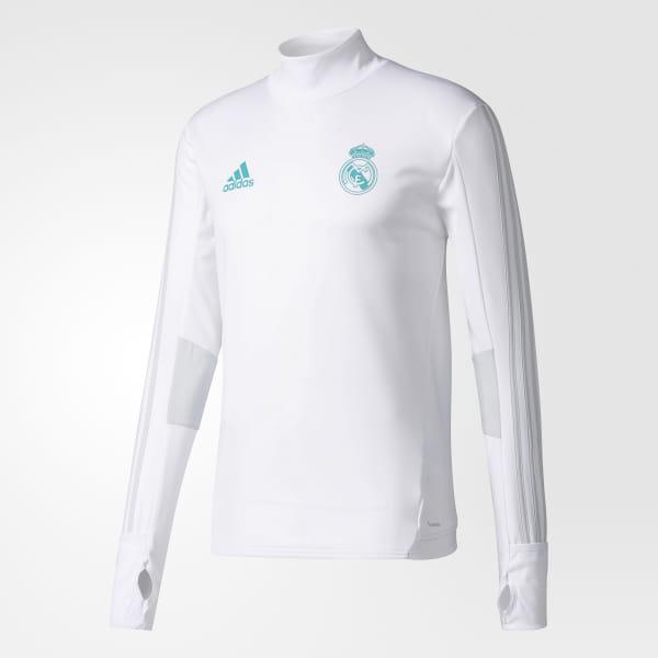 3ba62e6dc11 Real Madrid Training Top White   Clear Grey BQ7947