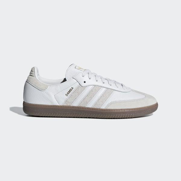 fdd267c9c0591 Chaussure Samba OG FT Crystal White   Raw White   Gold Met. BD7527