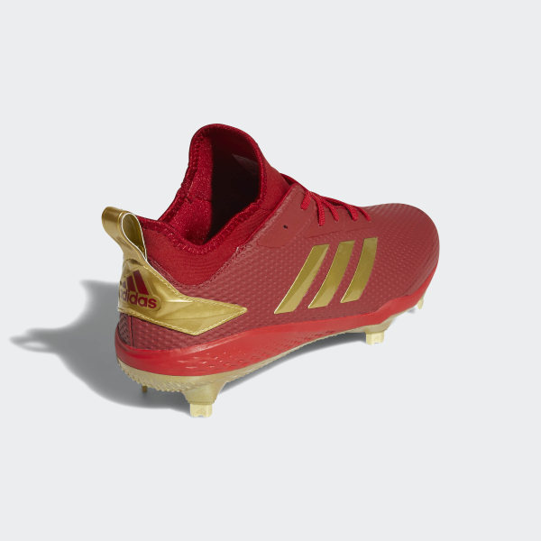 official photos 57bca a7179 Adizero Afterburner V Cleats Power Red   Gold Metallic   Core Black CG5220
