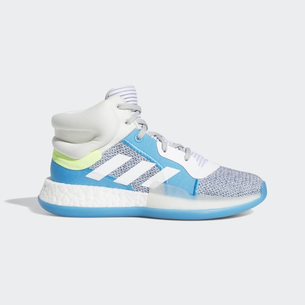 new product f6fa3 126e3 Marquee Boost Shoes Grey Two   Cloud White   Shock Cyan G27867