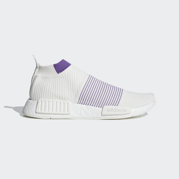 big sale b3871 feb16 NMD CS1 Primeknit Shoes Running White   Crystal White   Active Purple CM8496