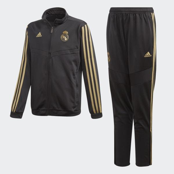 517f41300 Real Madrid Suit Black / Dark Football Gold DX7869