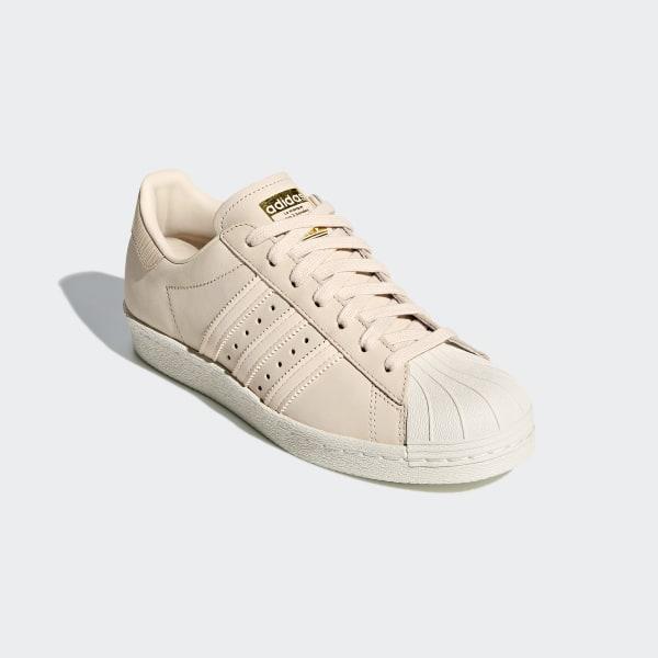 Details zu Adidas Superstar 80s Damen Sneaker linen beige gold AQ1219
