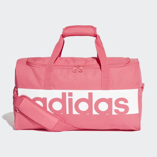 82fdba55578676 Linear Performance Duffel Bag Small Real Pink / White / White DM7650