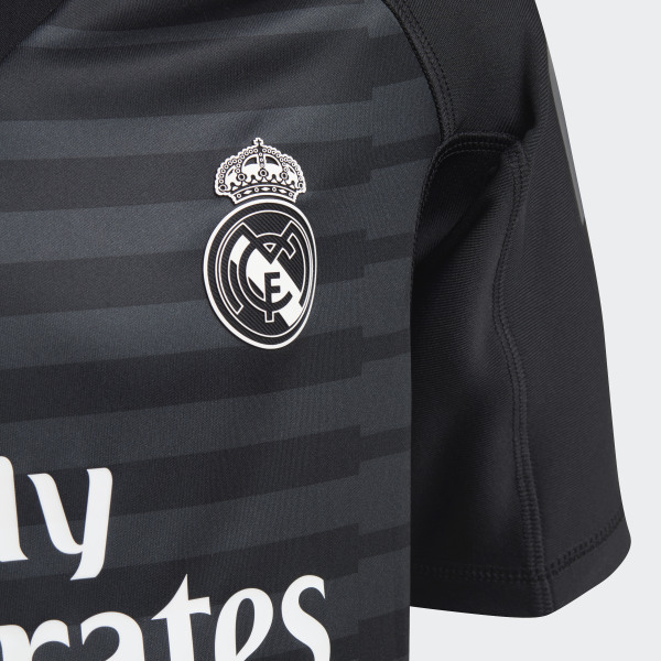 new products d4151 67dc4 adidas Real Madrid Home Goalkeeper Mini Kit - Black | adidas UK