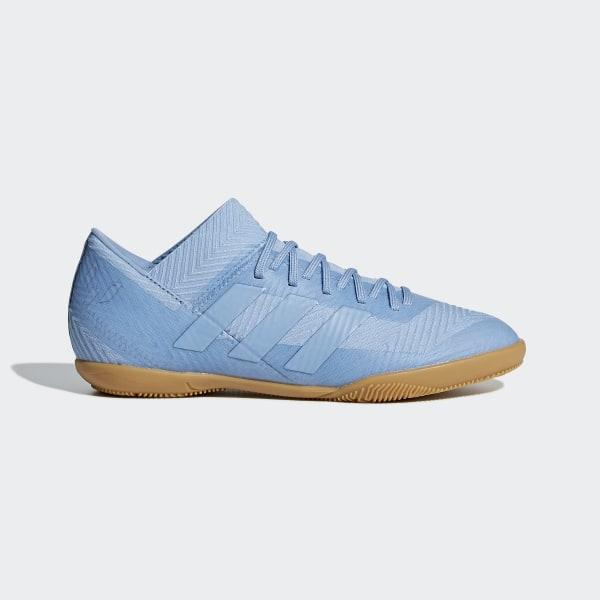 761768787 Nemeziz Messi Tango 18.3 Indoor Shoes Ash Blue   Ash Blue   Gold Metallic  DB2391