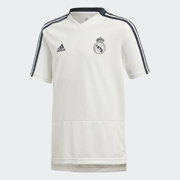 huge selection of 2bdc6 93db2 adidas Real Madrid Training Jersey - White | adidas Belgium