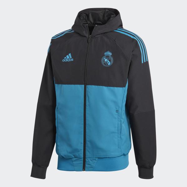 adidas Real Madrid UCL Präsentationsjacke Schwarz | adidas Austria