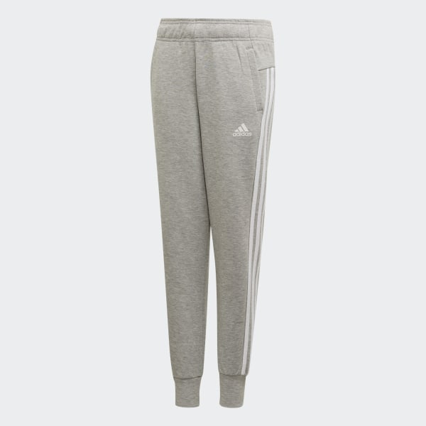 6054a60f Must Haves 3-Stripes Tracksuit Bottoms Medium Grey Heather / White ED4623