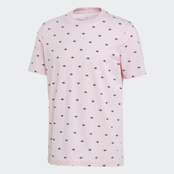 cb07bdf95299 Allover Print Trefoil T-Shirt Clear Pink DJ3463
