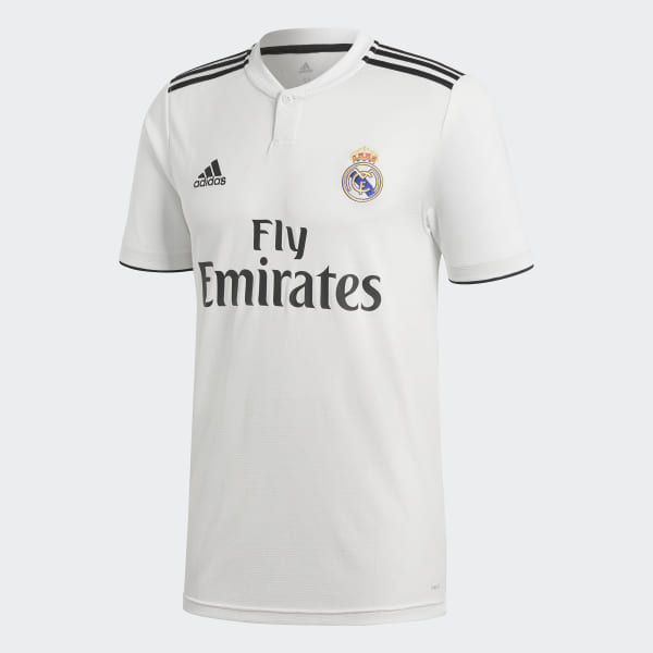 4228b3c2b Real Madrid Home Jersey Core White   Black DH3372