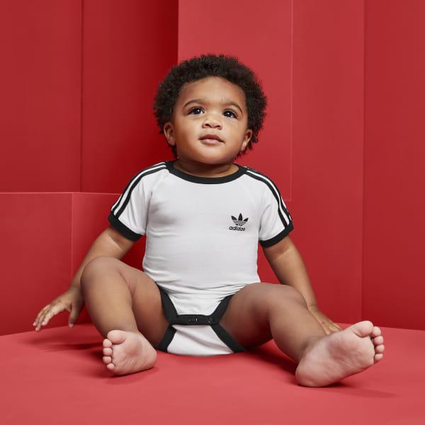 001b67f6e334c3 adidas 3-Stripes Bodysuit - White   adidas UK