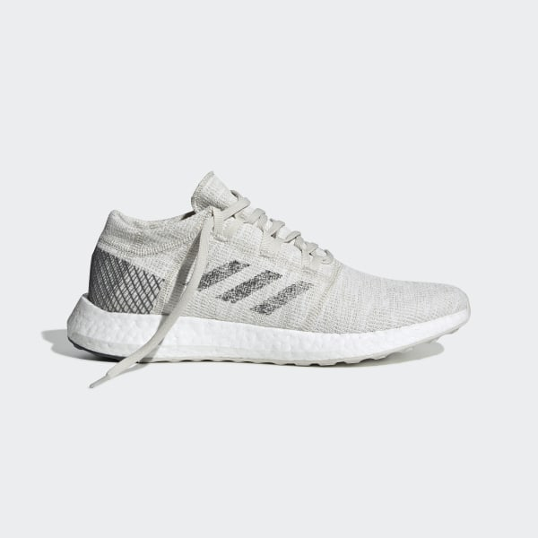 on sale aa05c a9f15 Pureboost Go Shoes Non Dyed   Grey Six   Raw White B37802