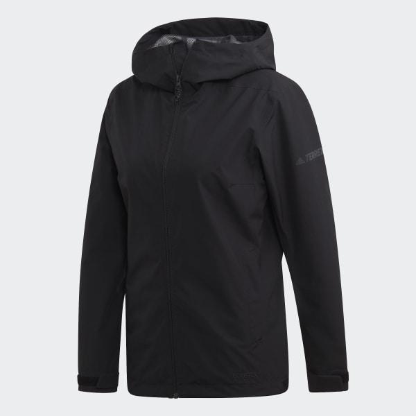 adidas Terrex GORE-TEX Rain Jacket - Black | adidas US