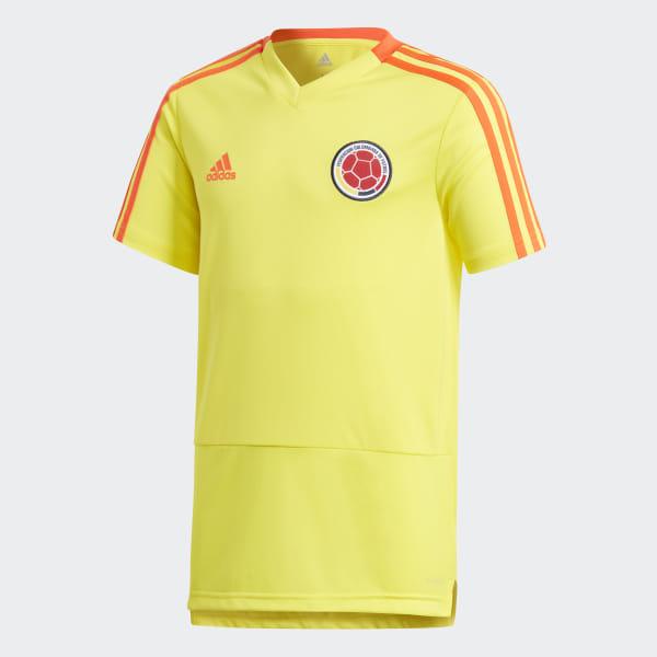 90a5c2f90 Camiseta de Entrenamiento Selección de Colombia Niño 2018 BRIGHT  YELLOW/SOLAR RED CF2018