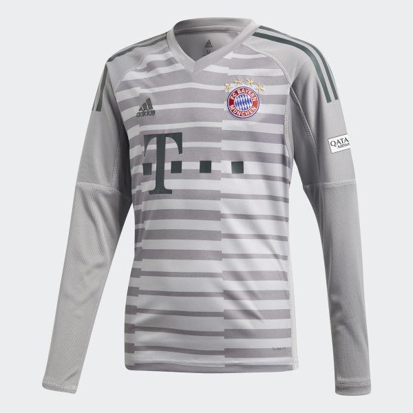 0d7a7069a FC Bayern Goalkeeper Jersey Grey One   Light Granite   Utility Ivy DQ0705
