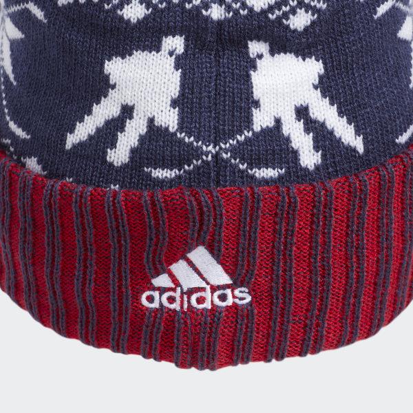 5a97547a adidas Capitals Ugly Sweater Cuffed Pom Beanie - Multicolor | adidas US