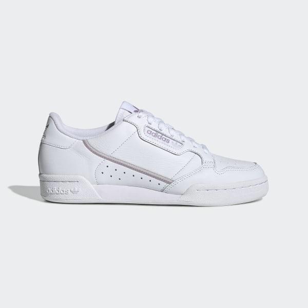 Adidas Continental 80 Blancas, Zapatillas Deportivas para Mujer. Sneaker. Nostalgia Vintage (38.5 EU, WhiteScarletNavy)