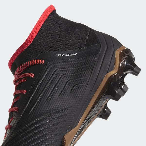 217ce1c34acf Predator 18.2 Firm Ground Boots Core Black / Ftwr White / Solar Red CP9290