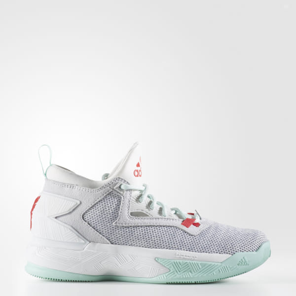 best service 41c64 8fbc1 D Lillard 2.0 Shoes Light Solid Grey   Ray Red   Ice Green B72852