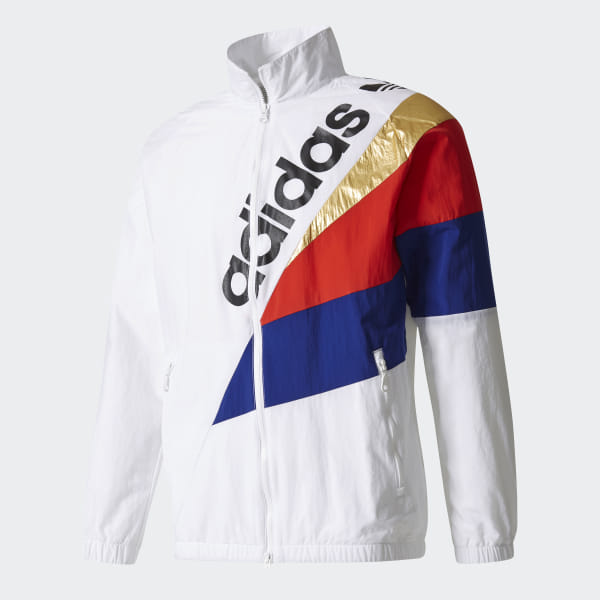 f8f6fb20638 adidas Tribe Windbreaker Track Jacket - White | adidas US