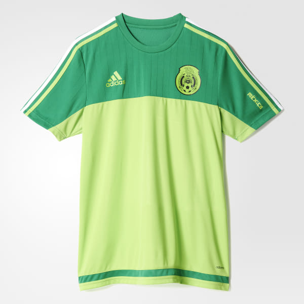 a89923998 Mexico Authentic Training Jersey Green   Semi Solar Green S13128