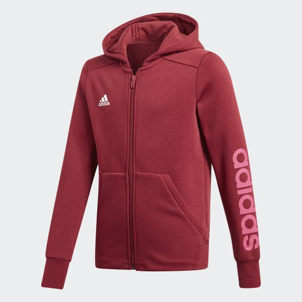 adidas Bluza z kapturem Essentials 3 Stripes Mid Czerwony | adidas Poland