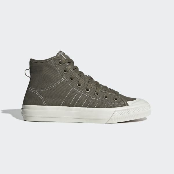 prix compétitif 326aa 51ab9 adidas Nizza Hi RF Shoes - Green | adidas UK