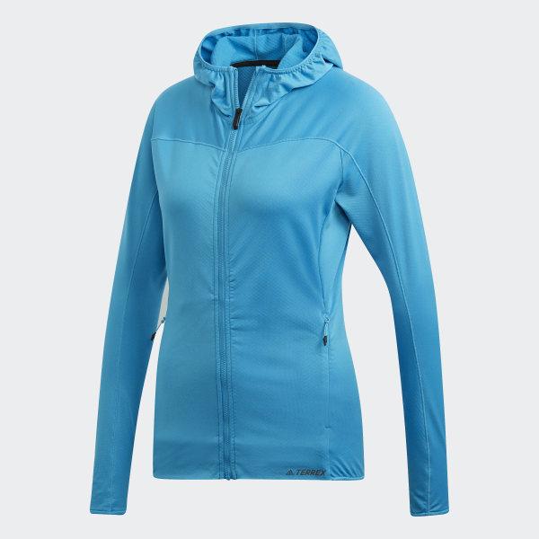 Veste à capuche molletonnée Trace Rocker femme de coloris bleu