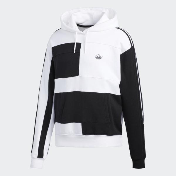 adidas Originals Asymm Block Kapuzenpullover für Herren Schwarz