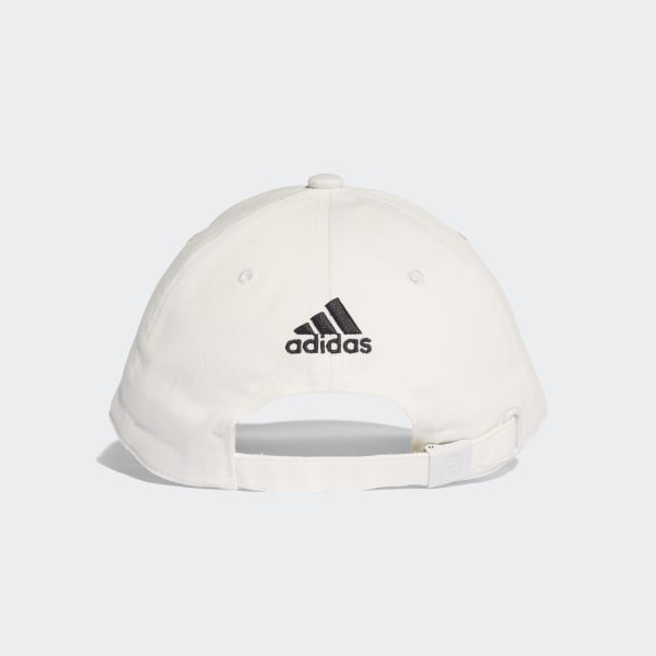 75597ab867cb6 Real Madrid 3-Stripes Hat Core White   Black CY5600