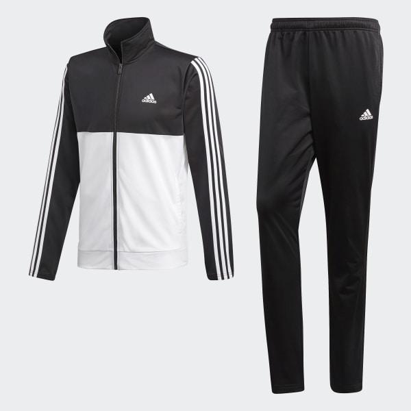 adidas Back 2 Basics 3 Streifen Trainingsanzug Schwarz   adidas Deutschland