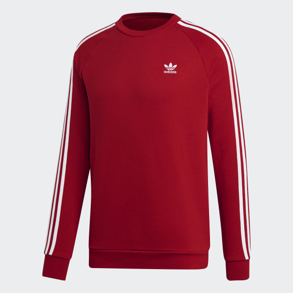 Sweat shirt à capuche 3 Stripes Rouge adidas | adidas France