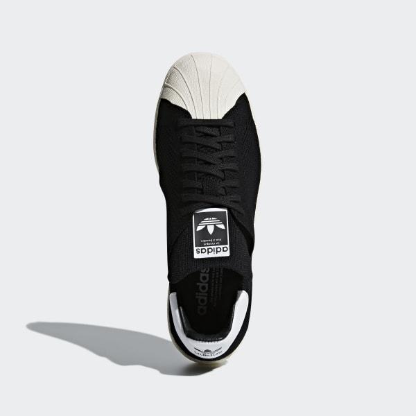 Adidas Superstar Femme Noir – Adidas Adidas Originals SUPERSTAR 80S PRIMEKNIT W Chaussures Mode Sneakers Femme Noir Blanc Noir