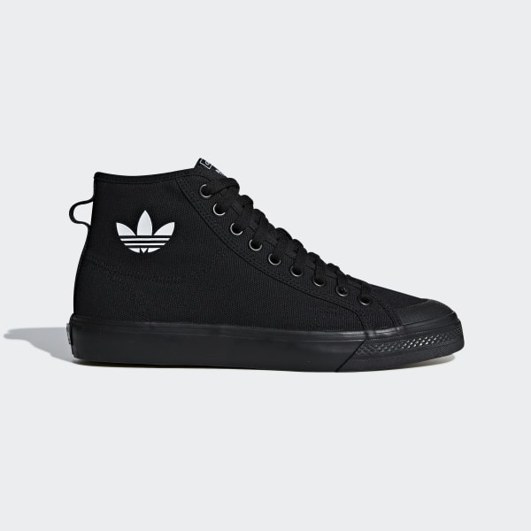 info pour 4fd5b 2ed19 adidas Nizza High Top Shoes - Black | adidas US