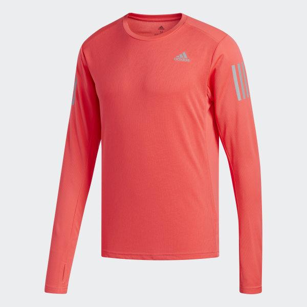 732e4633 adidas Own the Run Long-Sleeve Top - Red | adidas UK