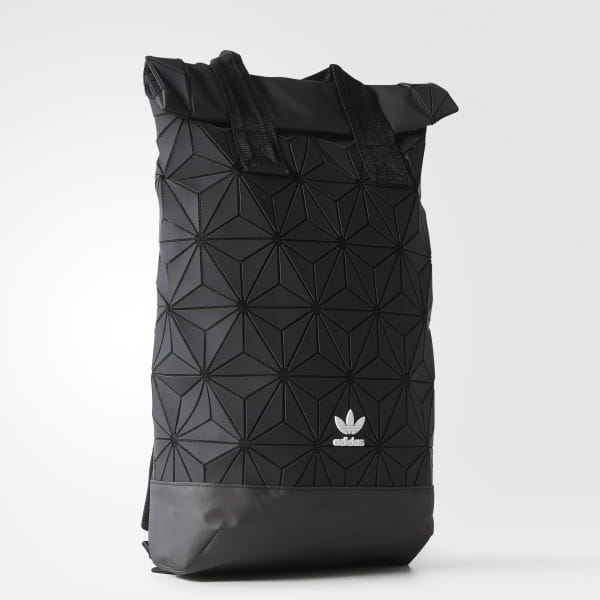 adidas Originals Urban 3D mesh Reflective Roll top GirlsBoy'sWomen'sMen's BackpackBlack