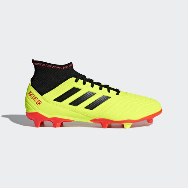 d2f2535349 Predator 18.3 Firm Ground Boots Solar Yellow   Core Black   Solar Red DB2003