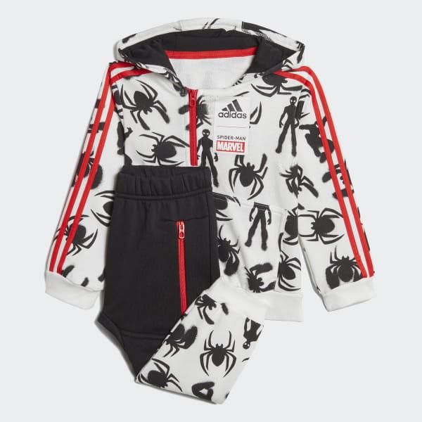 71183af6 Комплект: худи и брюки Marvel Spider-Man white / black / active red DV0836